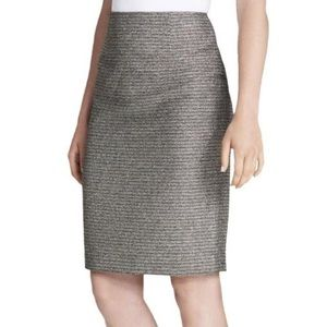 CALVIN KLEIN TEXTURE METALLIC PENCIL SKIRT SZ 10
